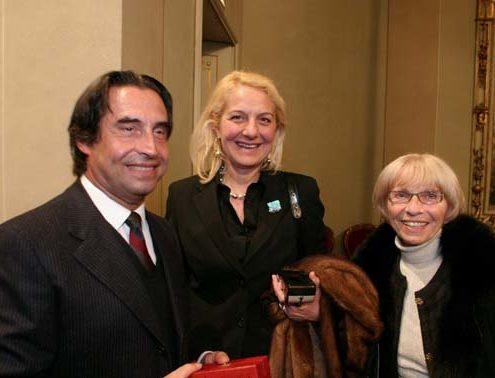 Imelde Corelli e il maestro Riccardo Muti