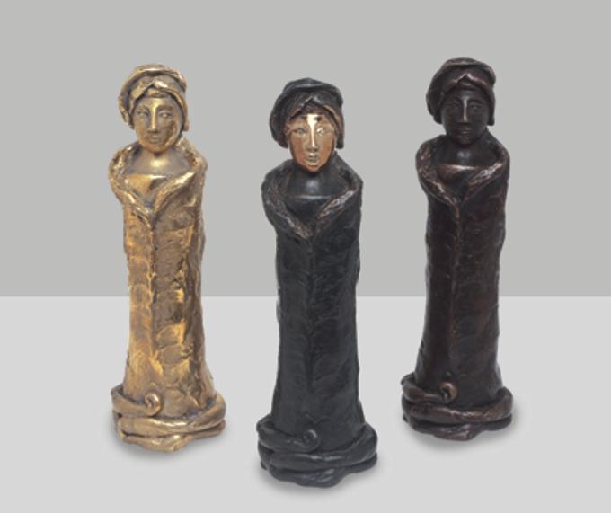 Le tre Ginevre - bronzo fuso a cera persa